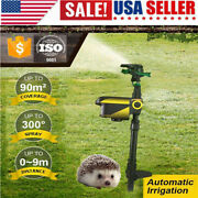 Solar Powered Sprinkler Motion Activated Animal Repellent Water Spray Scarecrow