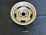 Single 1 Chevy 15x6 Corvette Large Dc Rally Wheel Restored Lugs And Stem