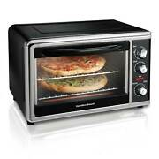 Hamilton Beach Countertop Oven With Convection And Rotisserie 1500 W Black 31100d