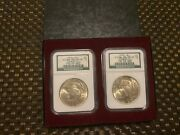 Binion Hoard 1922 And 1923 'ms 63' Peace Silver Dollar Coins / Ngc Graded