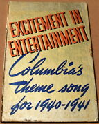 Excitement In Entertainment Columbia Pictures 1940-1941 Yearbook Exc Cond Rare