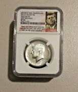 2014 D Silver 50c High Relief Kennedy Half Ngc Sp69andnbsp 50th Anniv First Release