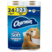 Charmin Ultra Soft Cushiony Touch Toilet Paper 24 Family Mega Rolls - 2 Pack