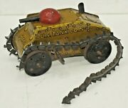 Rare 1930's Vintage Marx Tin Litho U.s. Army Tank N4 Wind-up Key - Sold As-is