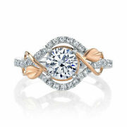 0.75 Ct Real Diamond Engagement Ring Solid 14k White Gold Rings Size 5 6 7 8 9 4