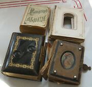 Lot Of Empty Antique Cdv Photo Albums As Is As Found For Parts Or Repair
