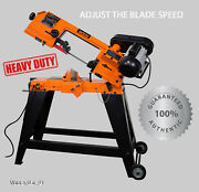 Metal Cutting Band Saw Bandsaw W/ Stand Cut Deep Variable Speed Blade Portable