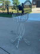 Antique Victorian Wrought Iron Fern / Plant Stand Vintage Patio Furniture