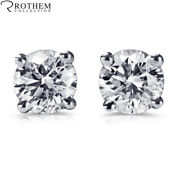 1 Ct Diamond Stud Earrings One Ct White Gold Studs I1 Msrp 6450 34252656