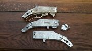 1950s Hubley Scout Rifle Recievers/lever Lot 2 Pr W/parts Western Cowboy