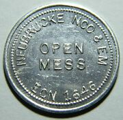 Germany Neubrucke Nco And Em Open Mess 25andcent Military Token 01435