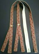 Civil War Suspenders Rust For Tall Man Sewn On Period Hand Crank Sewing Machine