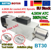[fr] Cnc Bt30 4.5kw 380v Automatic Tool Changer Atc Air Spindle Motor Engraving