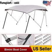 4 Bow 54 High 67-72 Width Bimini Top Boat Roof Cover 600d Uv Sun Shelter Us