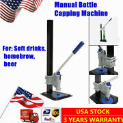 Manual Bottle Capping Machine Homebrew Beer Sealing Sealer Blue Usa Shipping