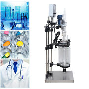Sf-3l Jacketed Glass Reactor Reaction Vessel 3l Digital 200n.cm For Chemical Lab