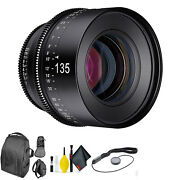 Rokinon Xeen 135mm T2.2 For Micro 4/3 + Deluxe Lens Cleaning Kit