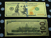 100 Gold Banknotes Paper Coins Bill Us Currency Reserve Collectible Note Federal