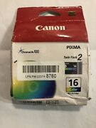 New Canon 16 Color Ink Cartridges Twin Pack For Pixma Ip90/ip90v Selphy Ds700