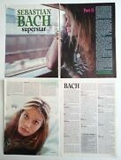 Sebastian Bach Skid Row Magazine Articles Clippings 4 Pages 1990