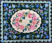 Vintage Claire Murray 100 Wool Hand-hooked Rug - R178floral Garden 41 X 32
