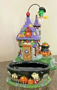 Department 56 59330 Halloween Mandmand039s Animated Flying Witchand039s Castle Candy Dish