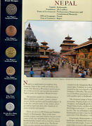 Coins From Around The World Nepal 1996 - 1998 Bu Unc 10, 5 Rupees 1997 1 Rp 1998