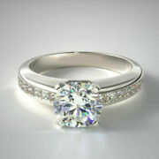 Real 0.98 Ct Diamond Engagement Band Solid 14k White Gold Solitaire Ring 6 7 6 8
