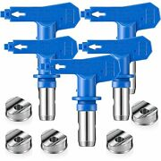 5 Pieces Reversible Spray Tip Nozzles Paint Spray Tips Airless Sprayer Nozzles A