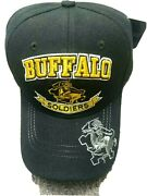 Buffalo Soldiers Black Baseball Cap New Embroidered Acrylic 6 Panel Military Hat