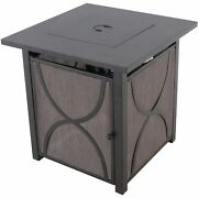 Md Heatside 40,000 Btu Tile-top Gas Fire Pit Table With Burner Cover And Lava...