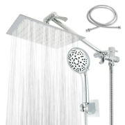 8and039and039 Dual High Pressure Rainfall Shower Head Handheld Combo Luxury Set