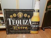 Anheuser Busch Tequiza Extra Tin Metal Bar Sign 35x35 Discontinued Advertising
