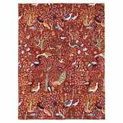 8and0399x12and039 Fine Peshawar Colorful Birds Of Paradise Design Hand Knotted Rug G69298