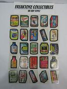 1974 Wacky Packages Series 10 Set Of 25 Sticker Cards Near Complete Set