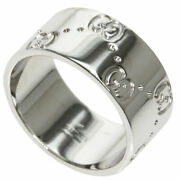 Ring Icon Wide K18 White Gold
