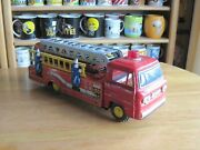 Corvair Tin Friction Fantasy Fire Truck Vintage Very Rare