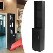 Hair Styling Salon Station Barber Spa Wall Mounted Storage Cabinet Black