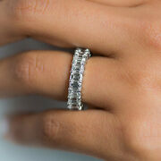 Stylish Solid 18k White Gold 4.00 Ct Real Diamond Engagement Band Size L N O P M