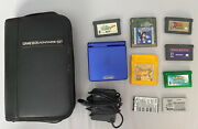 Cobalt Blue Nintendo Gameboy Advance Sp With Charger, Games, Xtra Battery Packs