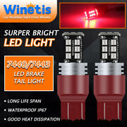 Winetis Super Red 7443 7440 T20 Led Brake Stop Tail Light 15smd Stop Bulbs Lamp