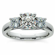 1.10 Ct Round Real Diamond Engagement Classic Ring 18k White Gold Size 5 6 7 8 9