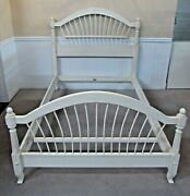 Ethan Allen Maison Full Bed Country French Wheatback White 37-5630 Fin 656