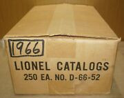 Lionel Trains Orig.1966 Catalogs Master Shipping Carton 250 Case D-66-52-sealed