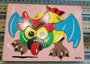 Vintage Sifo Wooden Puzzle Chinese Dog Or Dragon Playskool