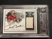 2016 Impeccable 2 Color Game Worn Patch Jerry Rice On Card Auto 2/10 Autograph