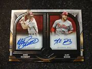 Mike Schmidt And Alec Bomb 2021 Topps Museum Collection Dual Autograph Auto 10/15