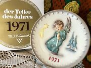 1971 Heavenly Angel Hummel Goebel Collectible Plate 100th Anniversary