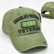 Disabled Vietnam Veteran Green Cap Low Profile Cotton Military Embroidered Hat
