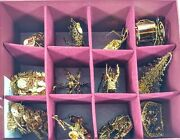 Danbury Mint Gold Christmas Ornament Collection Lot Of 12 From 2000-2004